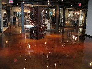 Retail bath & kitchen store chooses epoxy floor coatings for showroom
