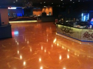 bar room epoxy flooring for easy maintenance