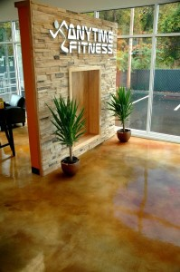 Gym floors made from concrete epoxy coatings