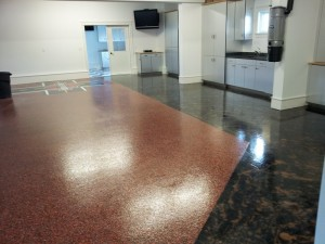 harley davidson employee break area epoxy flooring