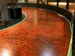 Metallic Epoxy Floors for Auto Showroom
